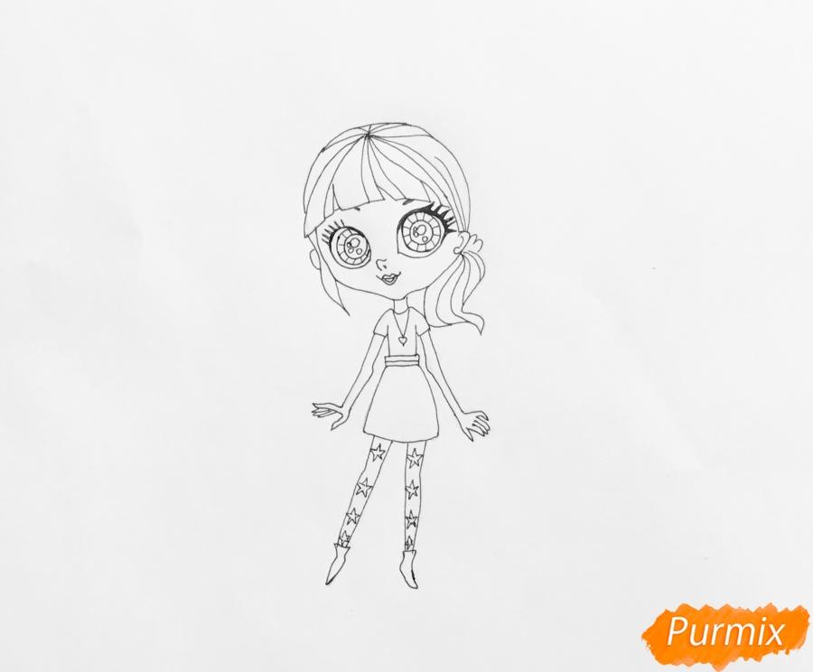 Рисуем Блайс Бакстер из мультфильма My Littlest Pet Shop - шаг 5
