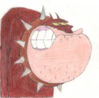 Рисунок Бульдога Боба из мультисериала Огги и Тараканы