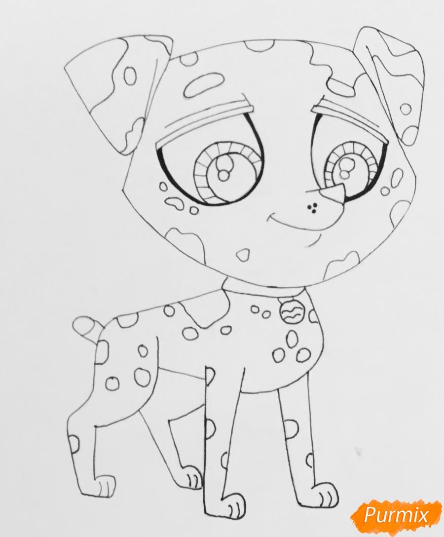 Рисуем Pet Shop далматинца из - фото 8