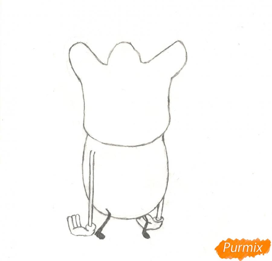 Рисуем и раскрасить Ди Ди из мультисериала Огги и Тараканы - шаг 3