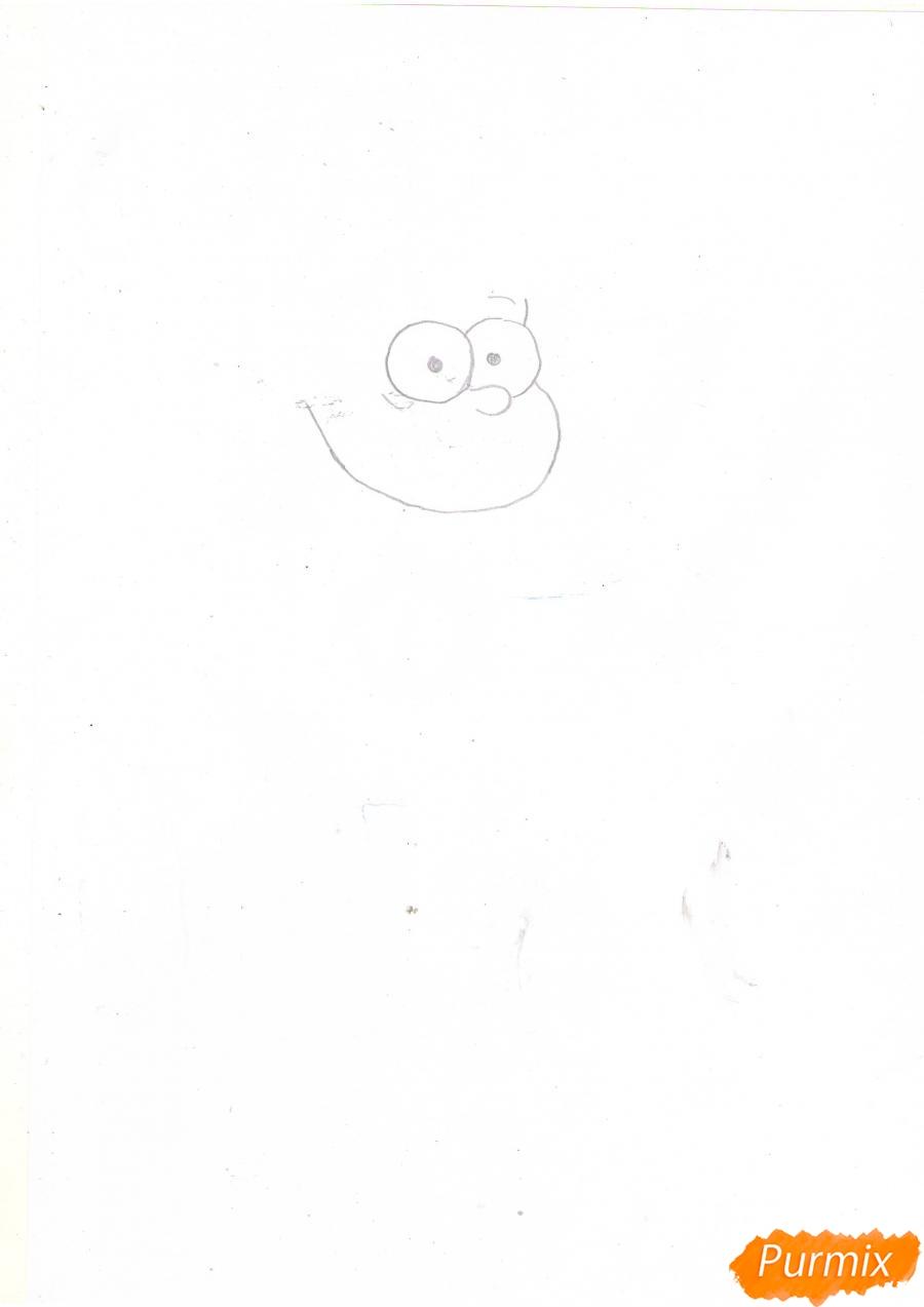 Рисуем Диппера Пайнса из Гравити фолз карандашами - шаг 1