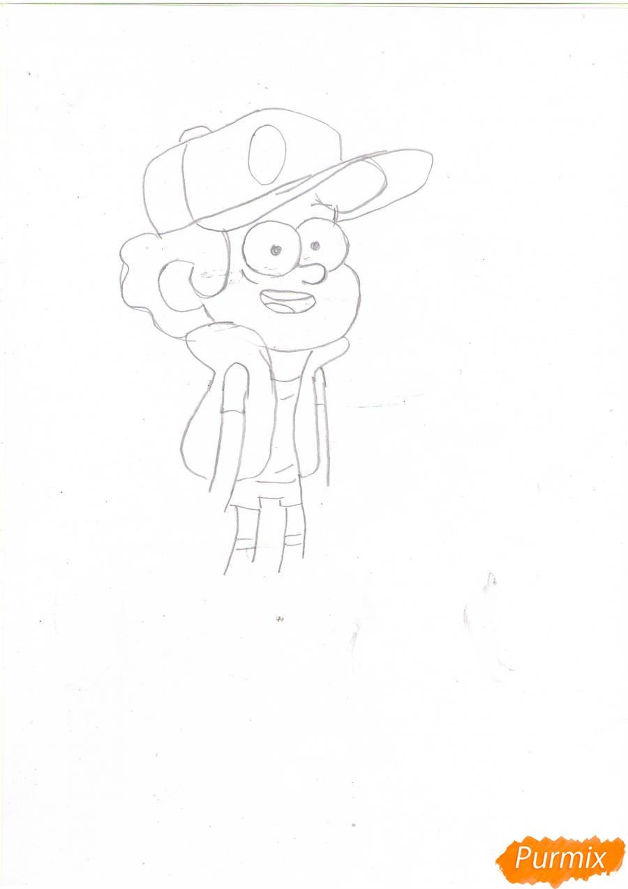 Рисуем Диппера Пайнса из Гравити фолз карандашами - шаг 3