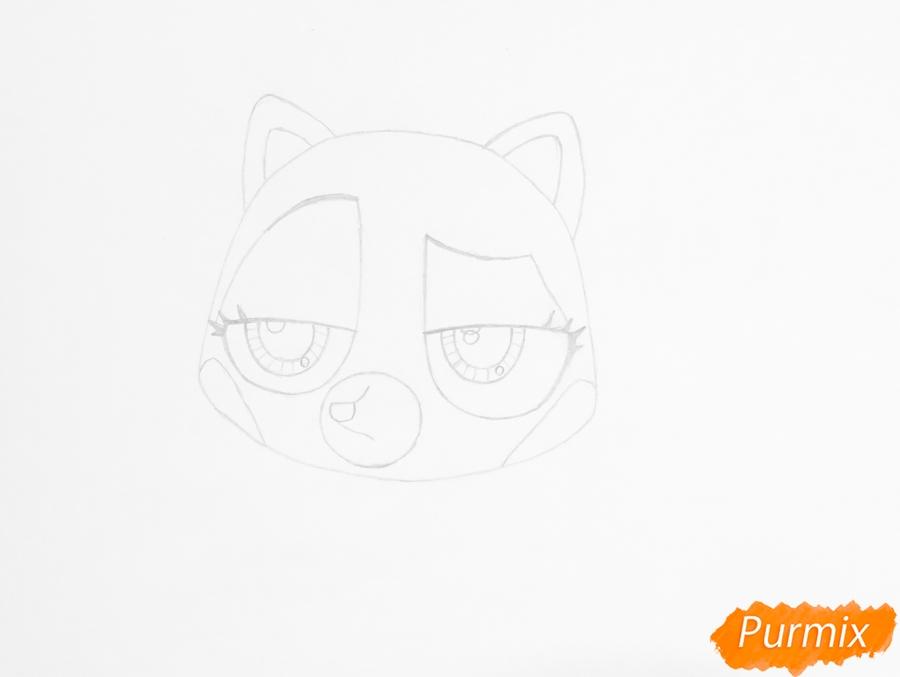 Рисуем енота Скарлетт Рэд из мультфильма My Littlest Pet Shop - фото 3