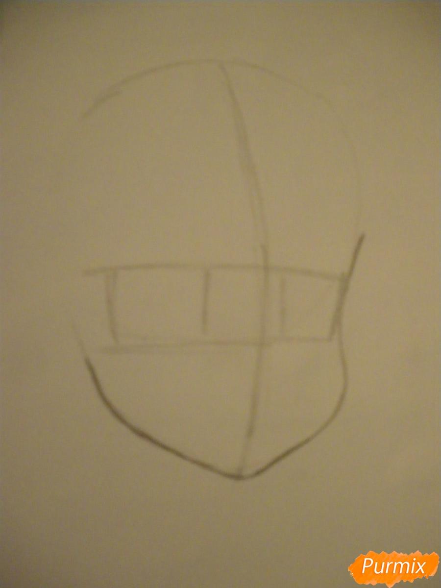 Рисуем Евангелину из мультфильма Вакфу карандашами - шаг 1