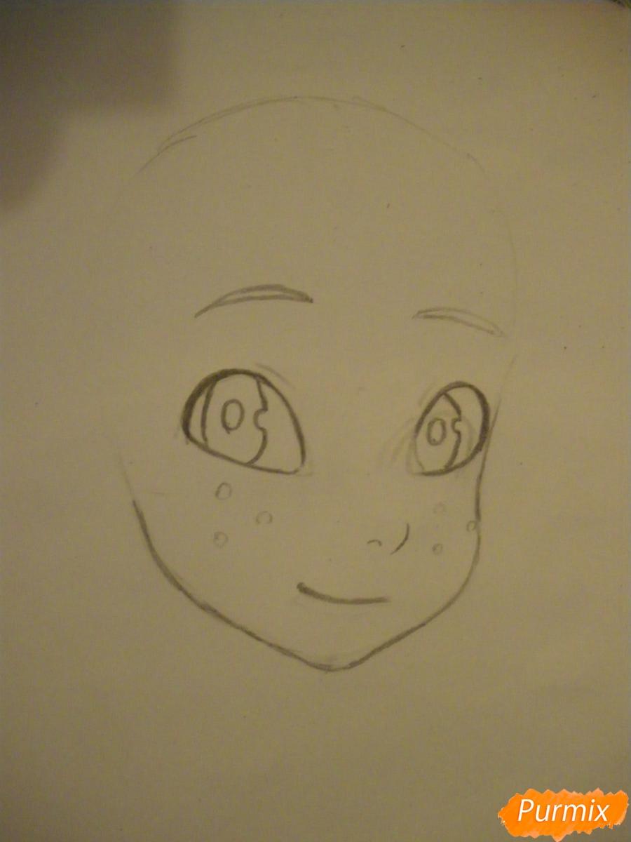 Рисуем Евангелину из мультфильма Вакфу карандашами - фото 2