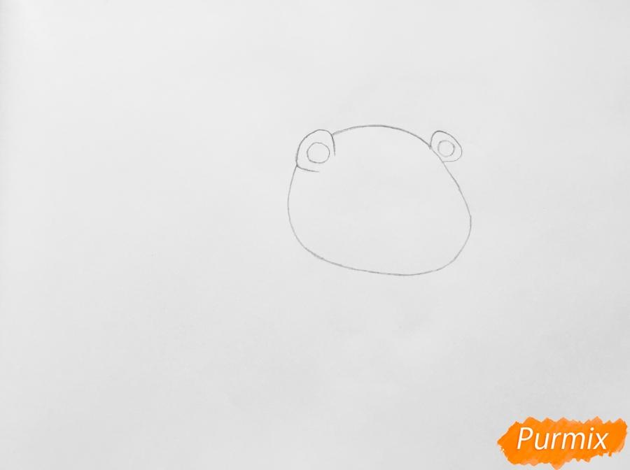 Рисуем ёжика Рассела из мультфильма My Littlest Pet Shop - шаг 1