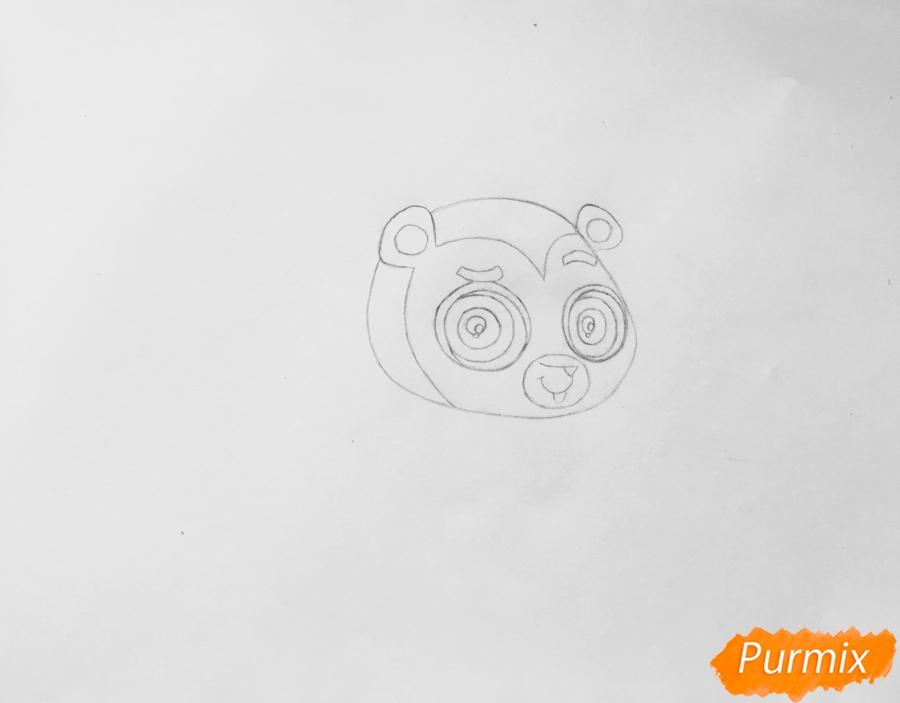 Рисуем ёжика Рассела из мультфильма My Littlest Pet Shop - шаг 2