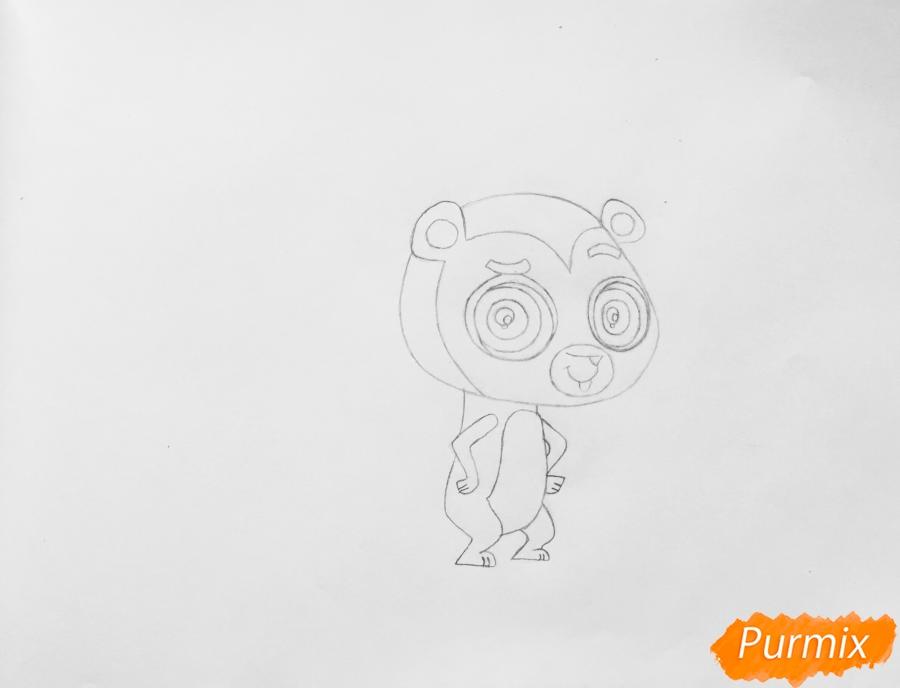 Рисуем ёжика Рассела из мультфильма My Littlest Pet Shop - шаг 3