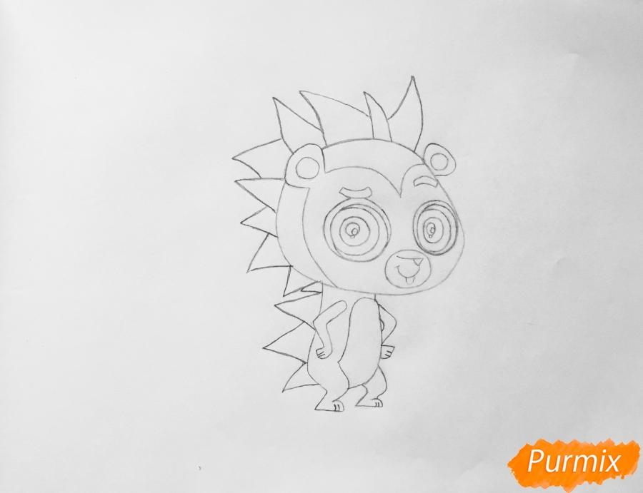 Рисуем ёжика Рассела из мультфильма My Littlest Pet Shop - шаг 4