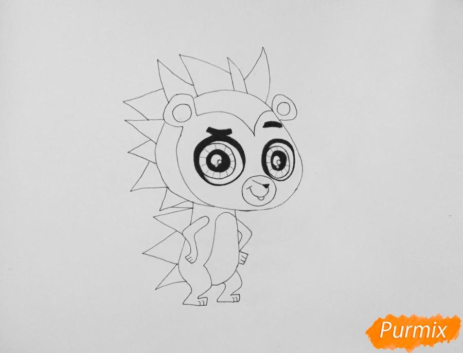 Рисуем ёжика Рассела из мультфильма My Littlest Pet Shop - шаг 5