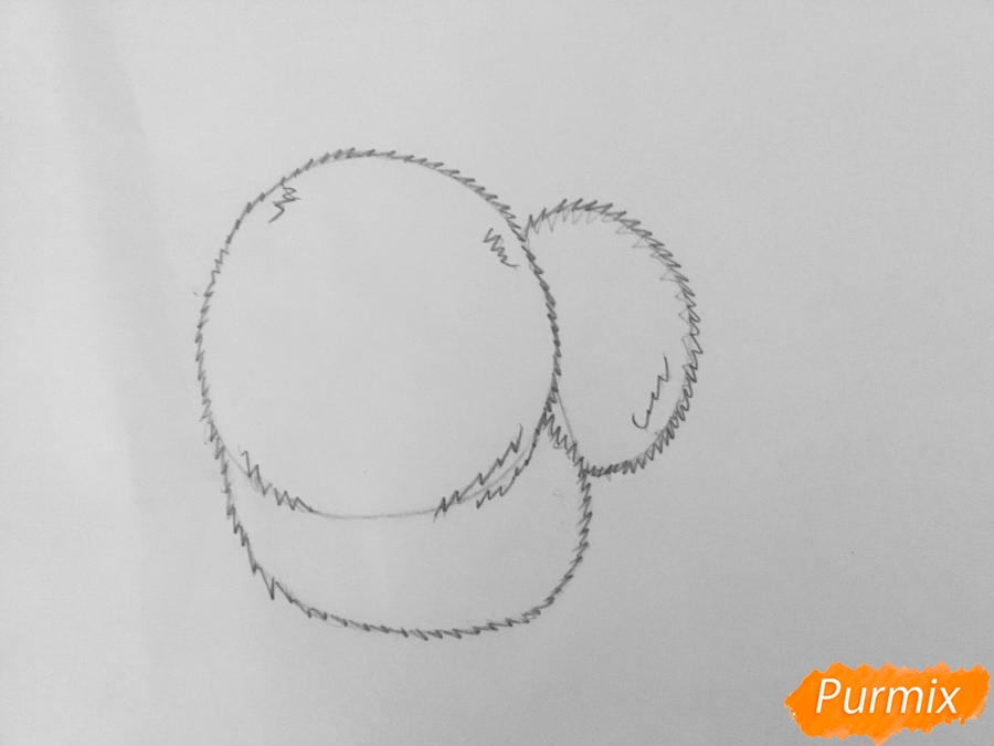 Рисуем Гиджет из мультфильма Тайная жизнь домашних животных - фото 4