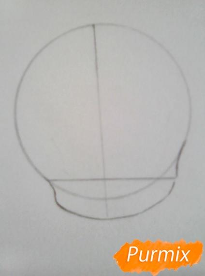 Рисуем Гиффани из Гравити Фолз карандашами - шаг 2