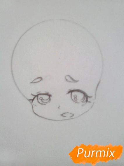 Рисуем Гиффани из Гравити Фолз карандашами - шаг 3
