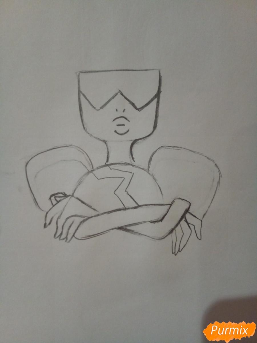 Рисуем Гранат из Вселенная Стивена  карандашами - фото 2