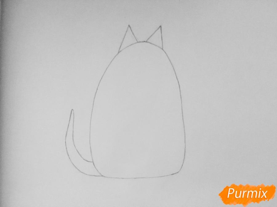 Рисуем кошку Хлою из мультфильма Тайная жизнь домашних животных - шаг 2