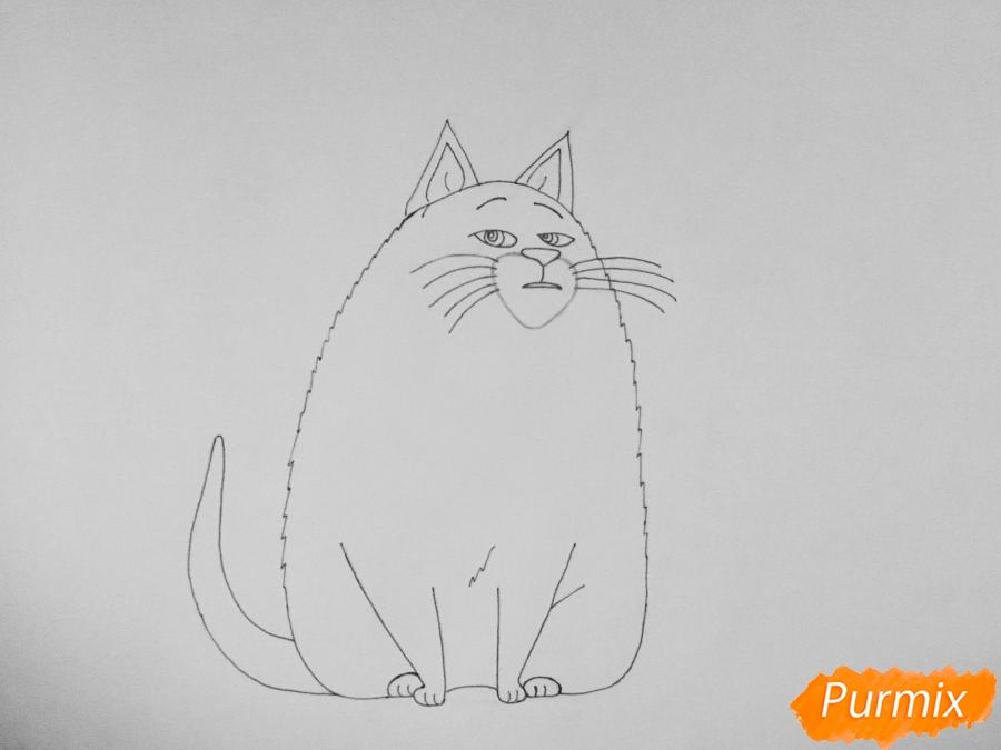 Рисуем кошку Хлою из мультфильма Тайная жизнь домашних животных - шаг 6