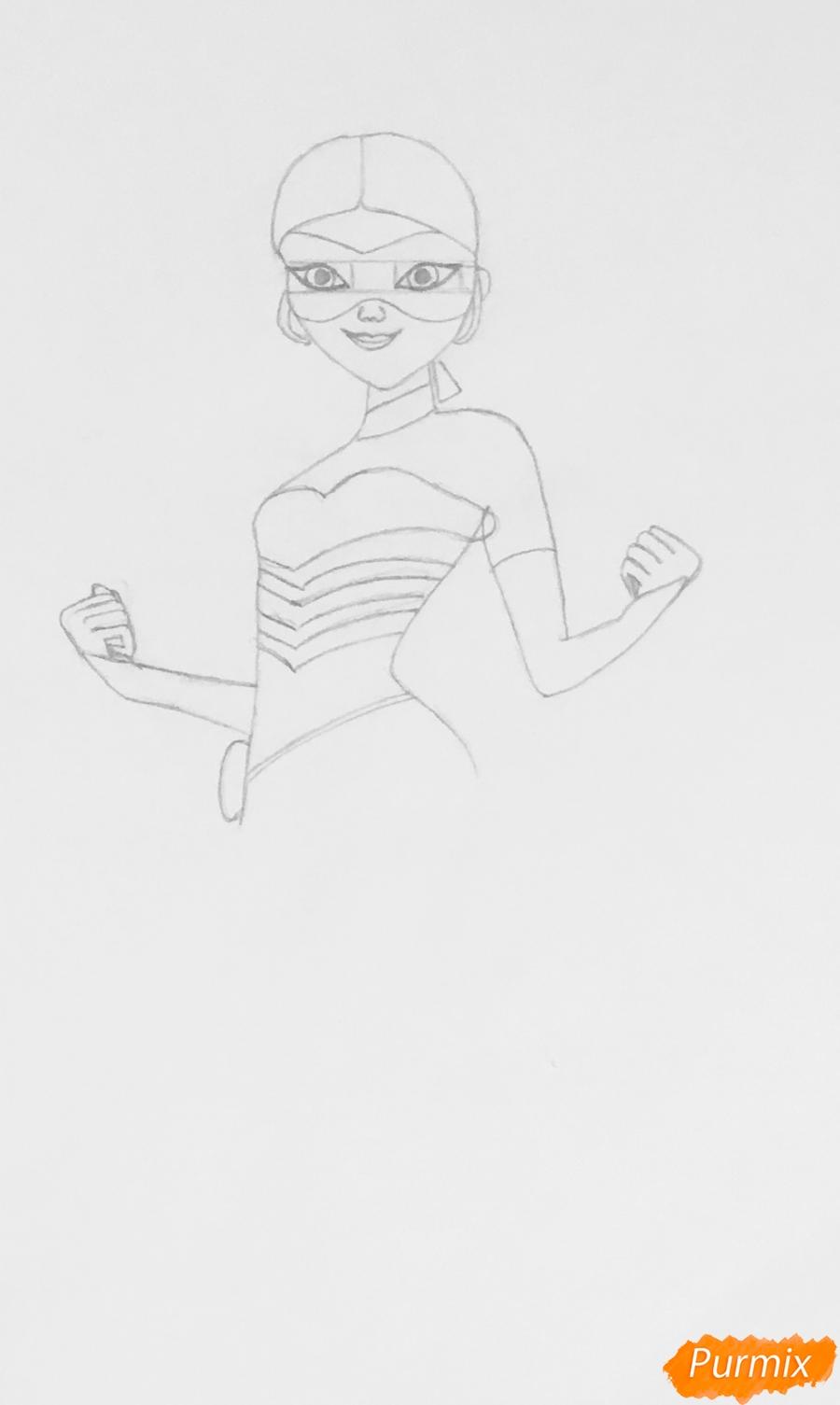Рисуем Хлою пчелу из мультфильма Леди Баг и Супер Кот - фото 3
