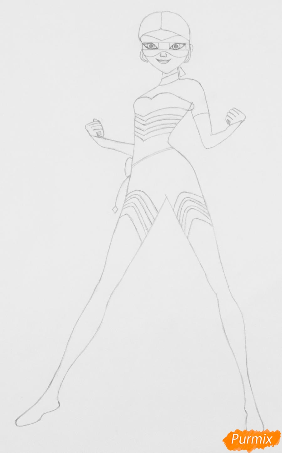 Рисуем Хлою пчелу из мультфильма Леди Баг и Супер Кот - фото 4