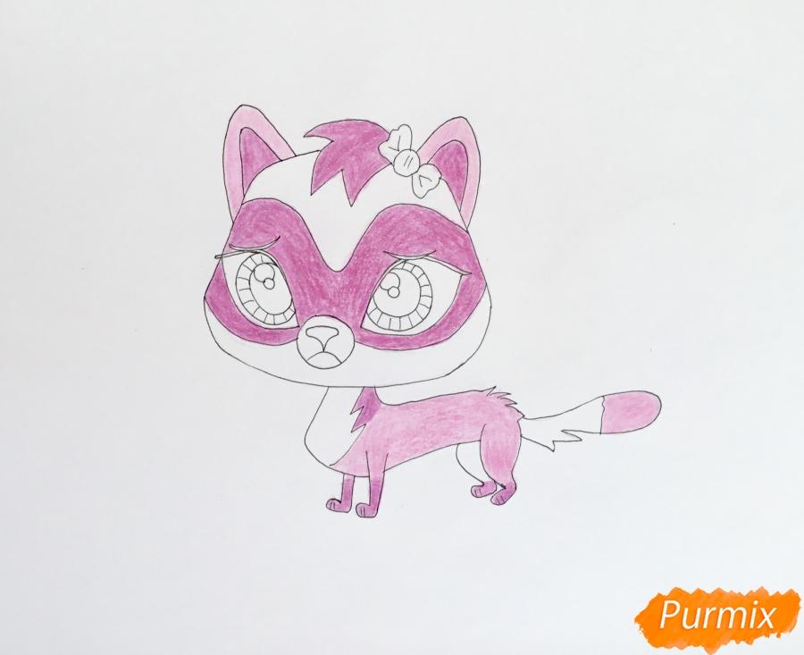 Рисуем хорька Jebbie из мультфильма My Littlest Pet Shop - фото 8