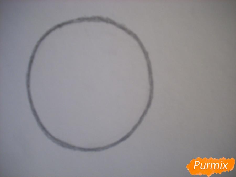Рисуем и раскрасить маленького кроша - шаг 1