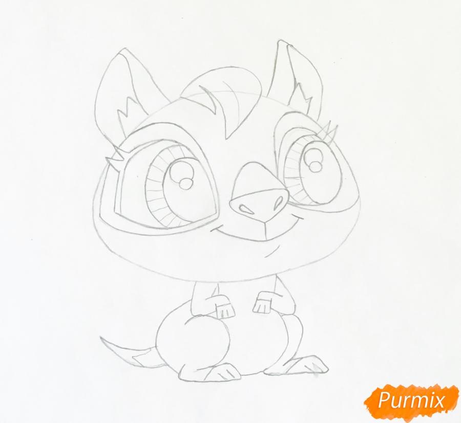 Рисуем кенгуру по имени Peachy из мультфильма My Littlest Pet Shop - шаг 4