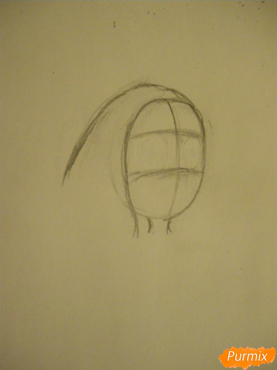 Рисуем Конни Махесварен из Вселенной Стивена карандашами - шаг 1