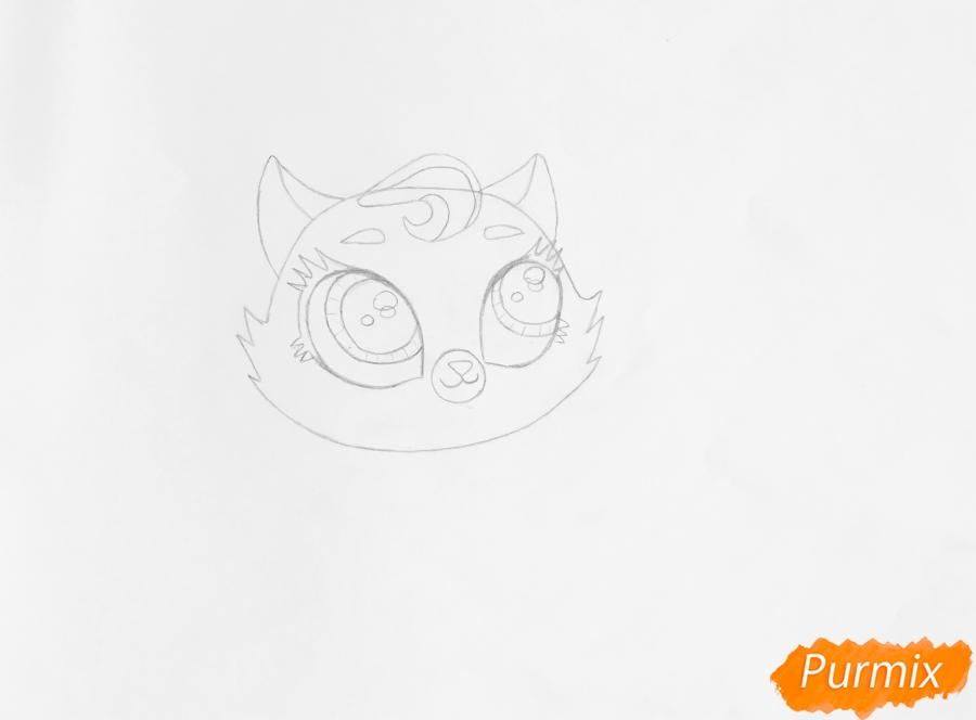 Рисуем кошку Бантер из мультфильма My Littlest Pet Shop - шаг 3