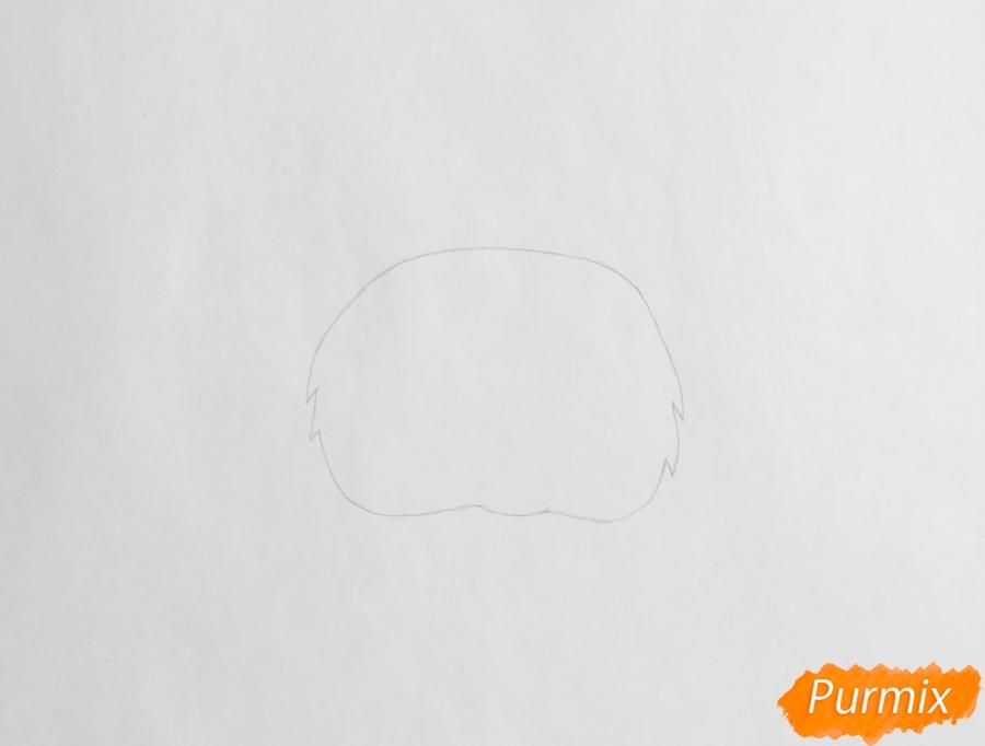 Рисуем кошку Флуффи из My Littlest Pet Shop - шаг 1