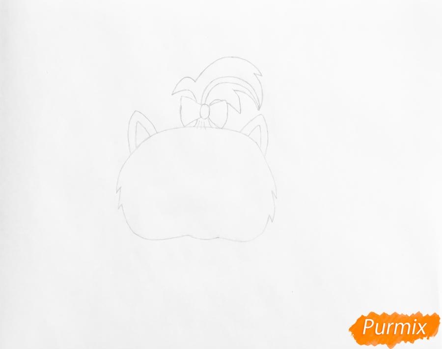Рисуем кошку Флуффи из My Littlest Pet Shop - шаг 2