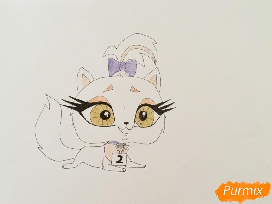 Рисуем кошку Флуффи из My Littlest Pet Shop - шаг 6