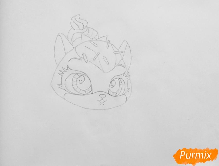 Рисуем кошку Шугар из мультфильма: My Littlest Pet Shop - шаг 3