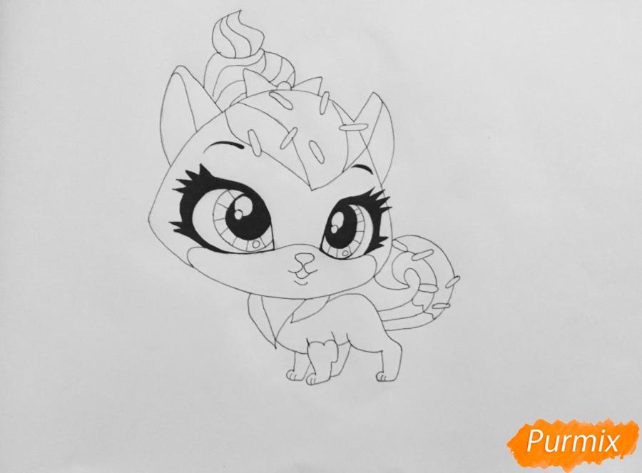 Рисуем кошку Шугар из мультфильма: My Littlest Pet Shop - шаг 5
