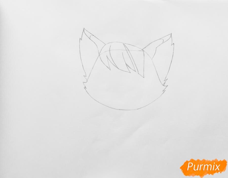 Рисуем кошку Страм Бассо из мультфильма My Littlest Pet Shop - шаг 2