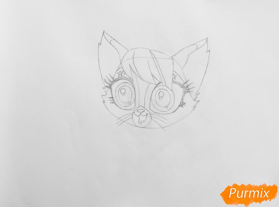 Рисуем кошку Страм Бассо из мультфильма My Littlest Pet Shop - шаг 3