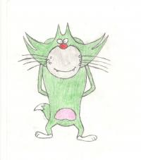 кота Джека из Огги и Тараканы карандашами