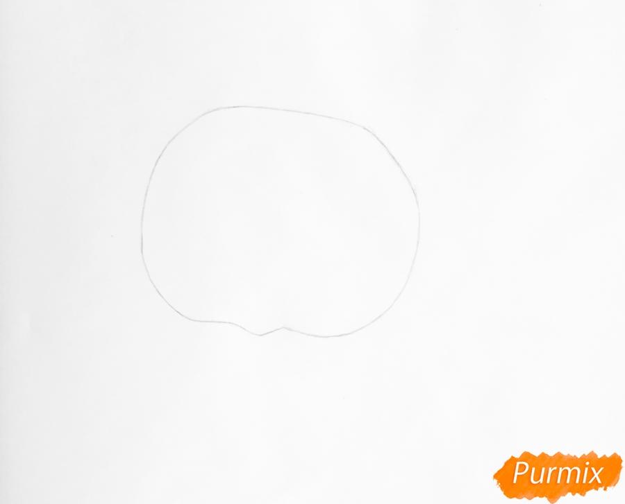 Рисуем кота Фаззи из мультфильма My Littlest Pet Shop - шаг 1