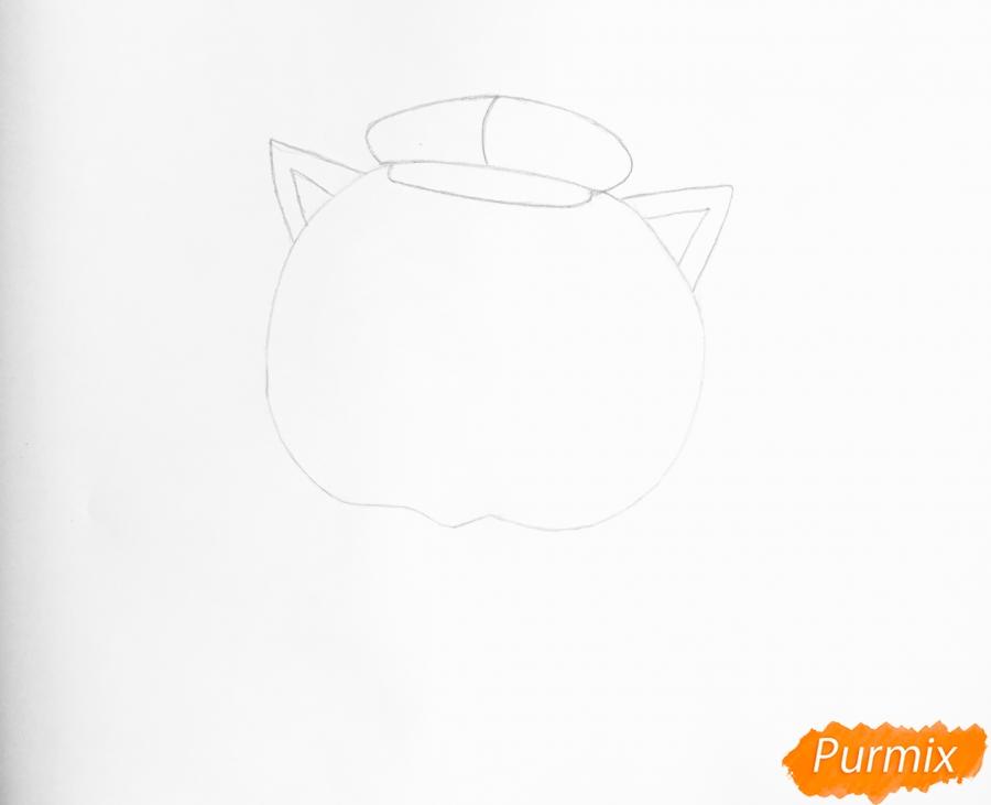 Рисуем кота Фаззи из мультфильма My Littlest Pet Shop - шаг 2
