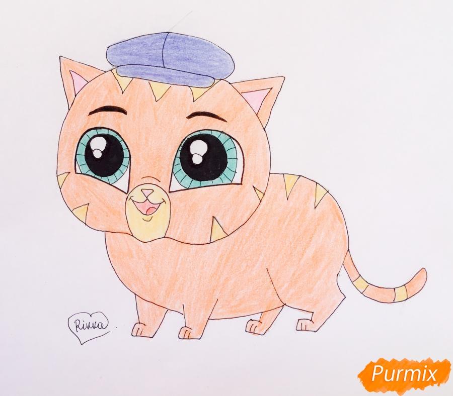 Как нарисовать кота Фаззи из мультфильма My Littlest Pet Shop карандашом поэтапно