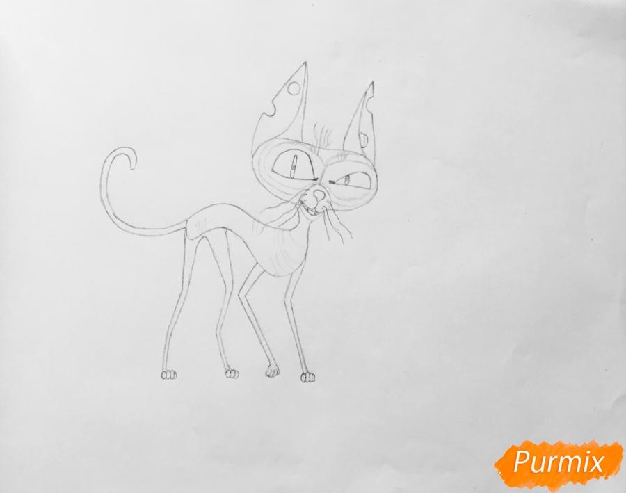 Рисуем кота Озона из мультфильма Тайная жизнь домашних животных - шаг 5