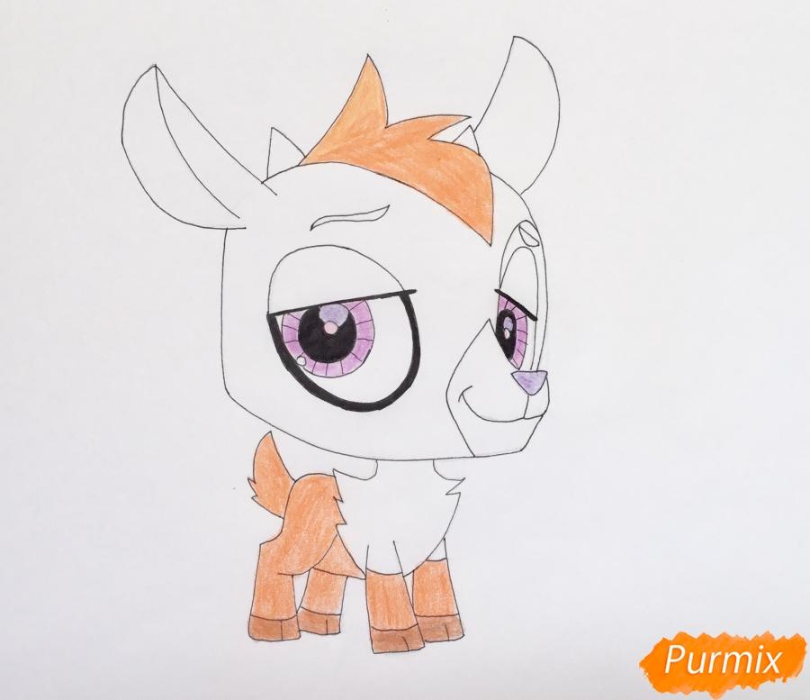 Рисуем козлика Baa baa из мультфильма My Littlest Pet Shop - шаг 6
