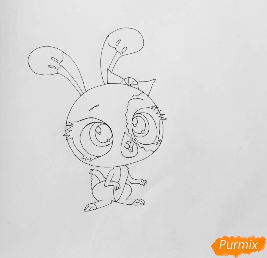 Рисуем кролика Баттеркрим из мультфильма My Littlest Pet Shop - шаг 5