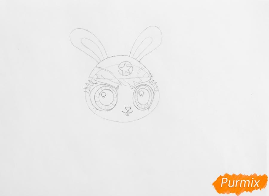 Рисуем кролика Quicksty (Квиксти) из LPS - шаг 3