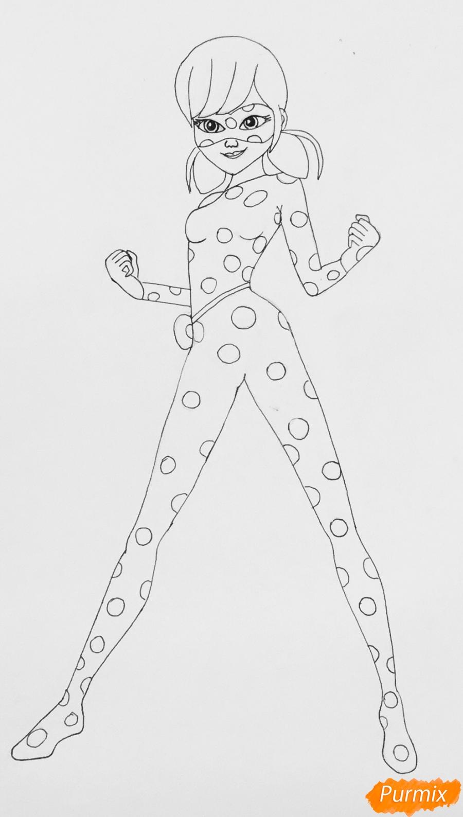 Рисуем Леди Баг из мультфильма Леди Баг и Супер Кот - фото 6