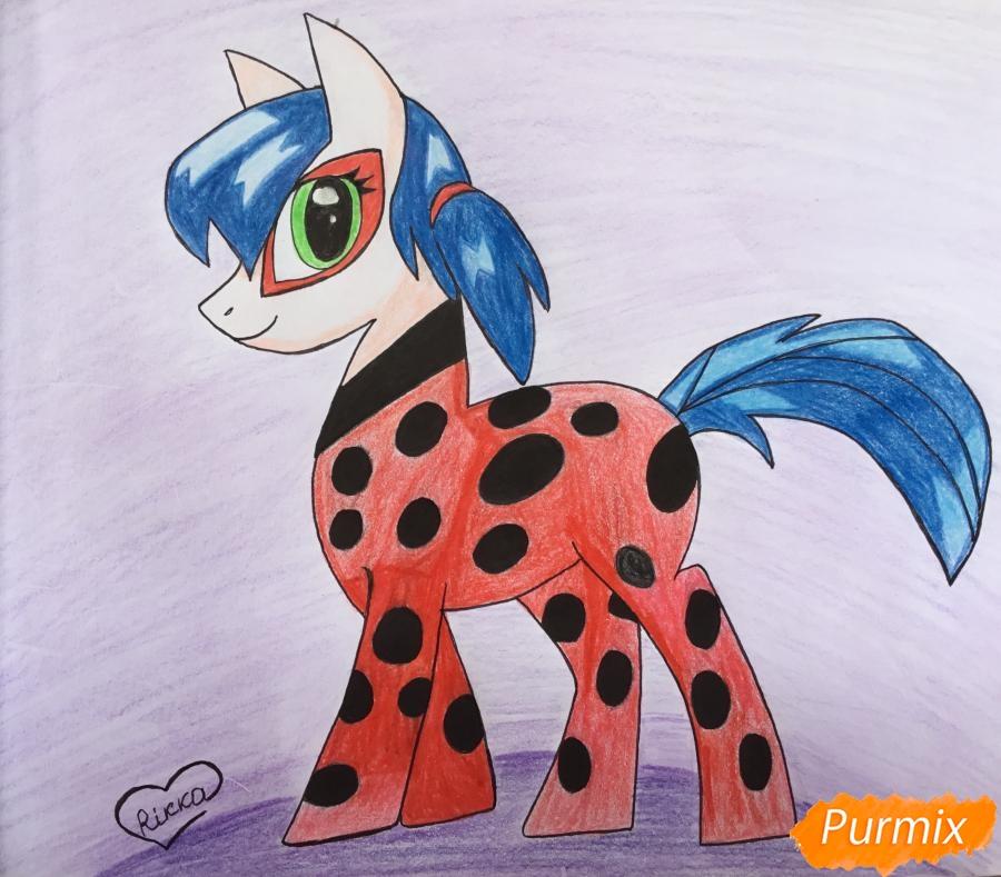 Рисуем Леди Баг в образе пони - фото 11
