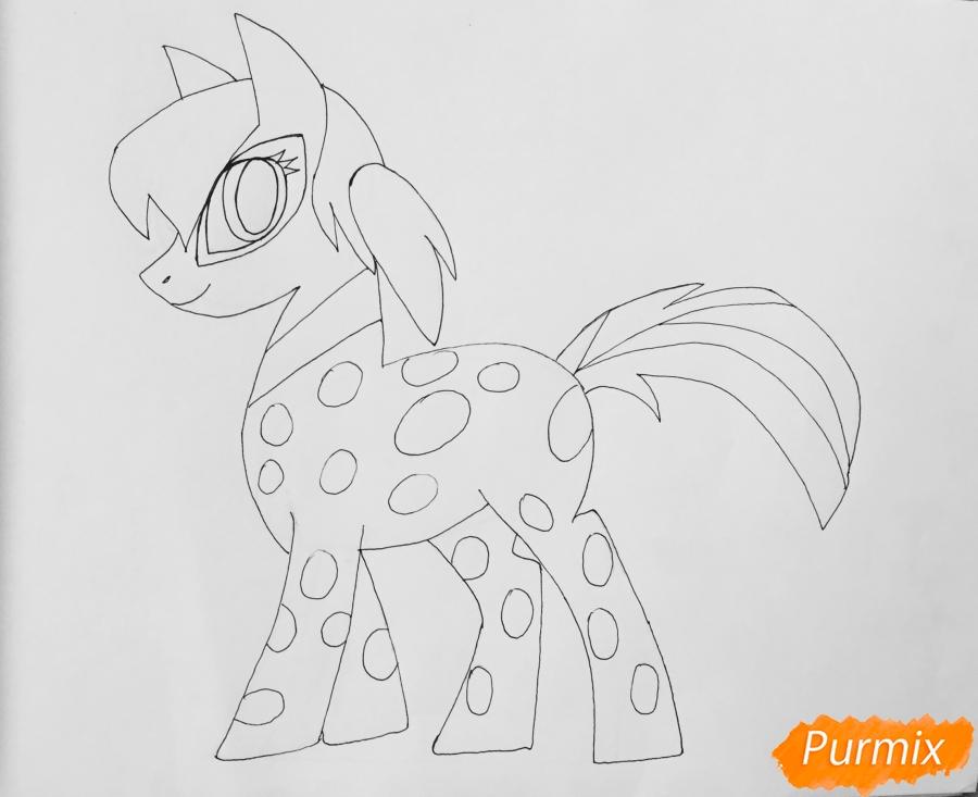 Рисуем Леди Баг в образе пони - фото 9