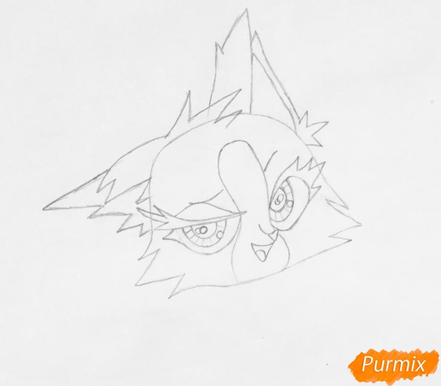Рисуем лисичку Синопу из мультфильма My Littlest Pet Shop - фото 3