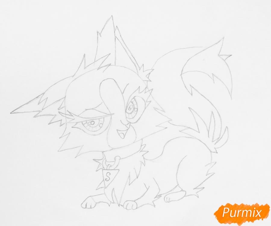 Рисуем лисичку Синопу из мультфильма My Littlest Pet Shop - фото 5