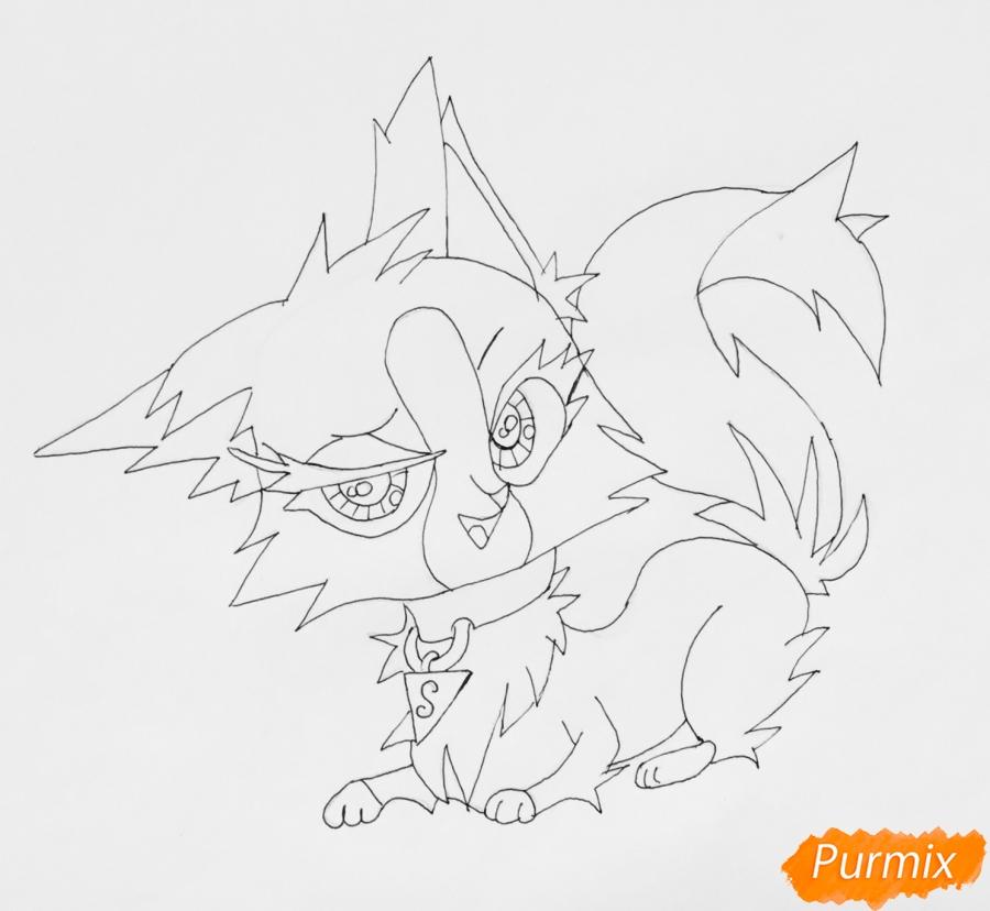 Рисуем лисичку Синопу из мультфильма My Littlest Pet Shop - фото 6