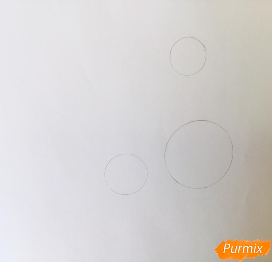 Рисуем лошадь Спирит из мультфильма: Спирит Душа прерий - шаг 1