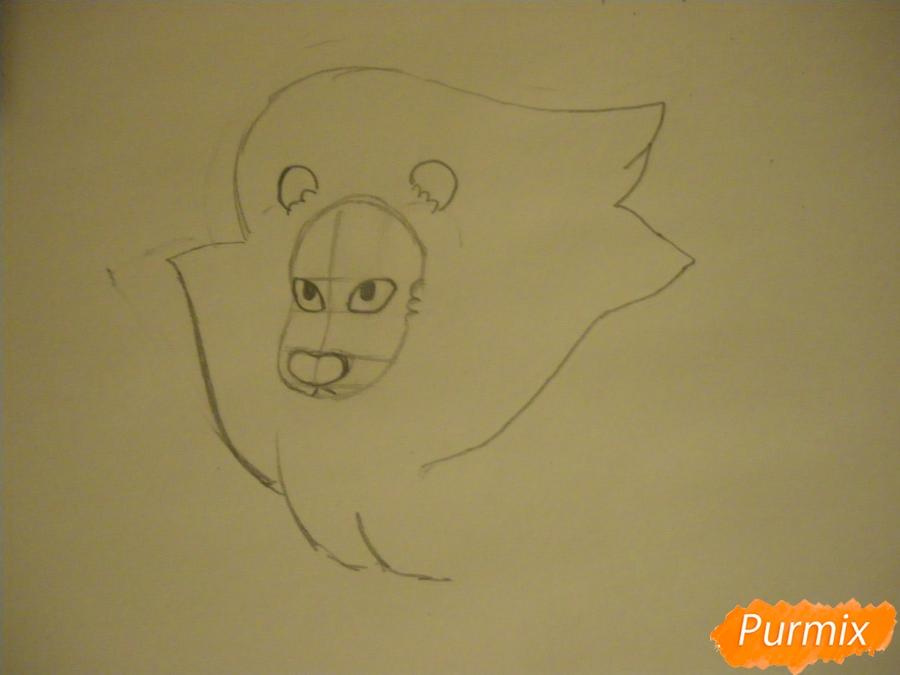 Рисуем льва Стивена из Вселенная Стивена карандашами - шаг 3
